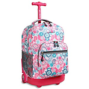 Универсальный школьный рюкзак на колесах JWORLD Sunrise арт. RBS18 Голубая Малина