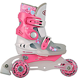 Детские трехколесные ролики WORKER TriGo розовые