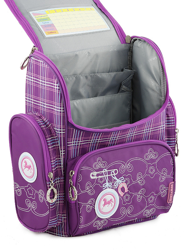 Школьный рюкзак Oxford Оксфорд син/бел цветы 1074-OX-47 + мешок для обуви, - фото 3