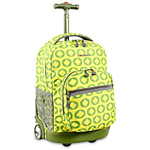 Универсальный школьный рюкзак на колесах JWORLD Sunrise арт. RBS18 Лайм Лого