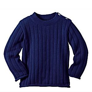 Одежда Disana свитер 100% шерсть цвет синий
